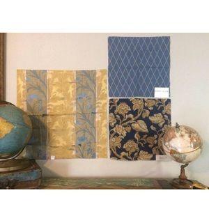 3 Designer Fabric Samples Crafting Lot